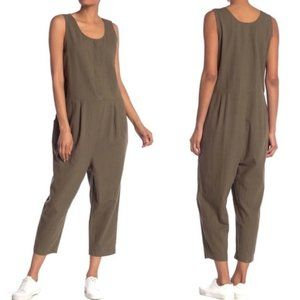 NWT Eileen Fisher Organic Cotton Olive Jumpsuit